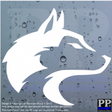 Wolf Head-Car,Van,Door,Window,Sticker,Sign,Pack,Alpha,Beta,Omega,Face,Silhouette,Primal,Animal